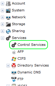 FreeNAS Control Services