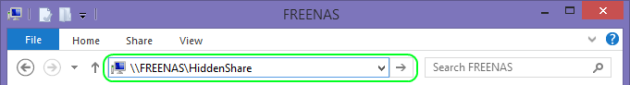 FreeNAS Share Address